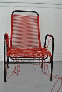 Fauteuil Fil Scoubidou : mobilier scoubidou une r novation de fauteuil scoubidou ~ Teatrodelosmanantiales.com Idées de Décoration