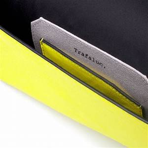 Zara Basic Clutch Bag in Yellow neon yellow