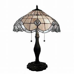 warehouse of tiffany 24 in bronze table lamp with pearl With tiffany style baroque floor bridge lamp