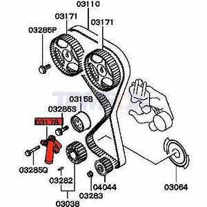 Oem Mitsubishi Md352473 Balancer Belt Tensioner Pulley For Mitsubishi Lancer Evo 7