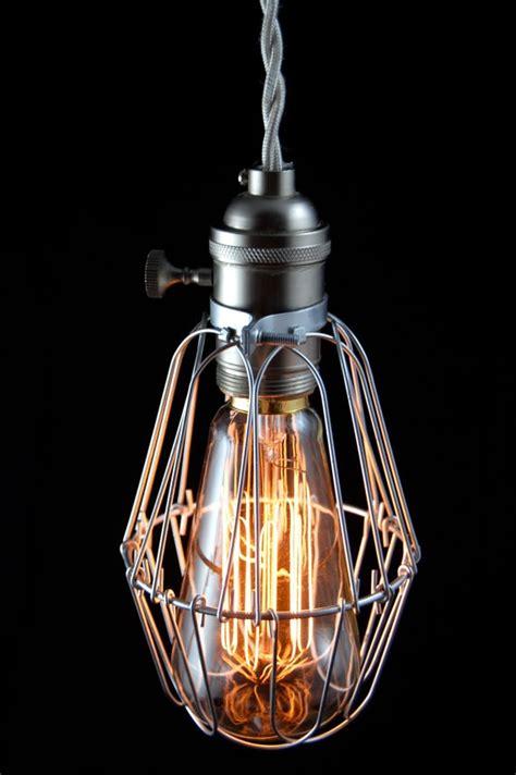 vintage industrial cage light pendant l quot pederson