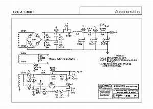 Acoustic G100t Combo Guitar Amp Sch Service Manual Free Download  Schematics  Eeprom  Repair