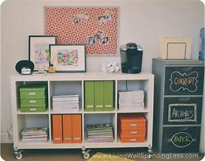 Diy office on a budget living well spending lessr for Diy office desk ideas for your home office