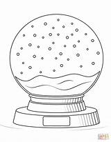 Coloring Globe Snow Pages Dolls Printable Supercoloring Shopkins Toys Crafts sketch template