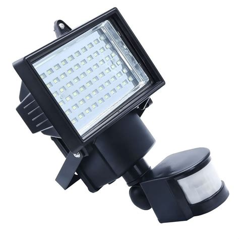 solar powered outdoor led garden lights 60 leds pir