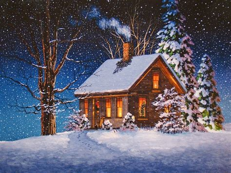 foto de font ecran paysage hiver