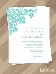 free pdf download pretty vintage border wedding invitation With free wedding invitation templates turquoise