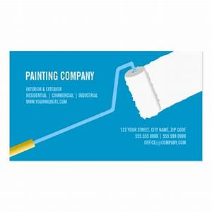 Painting company contractor business card zazzle for Painting contractors business cards
