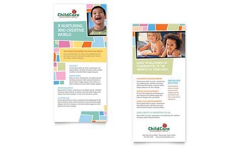 rack card template preschool day care rack card template design