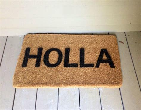 holla doormat flip with holla our doormat