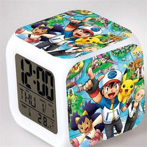 anime gifts for christmas new 2014 gifts anime digimon glowing led colorful change digital alarm clock