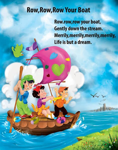 Row Your Boat In English by Artworks Children English Nursery Rhymes Digital