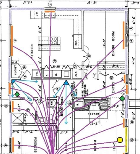 home alarm wiring    house