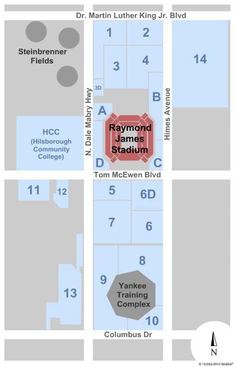 Raymond James Stadium Seating Diagram