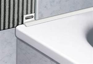 profiles pour salles de bain cerfixr sanibord With carrelage adhesif salle de bain avec led aluminum profile