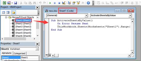 how to select specific worksheet based on cell value on