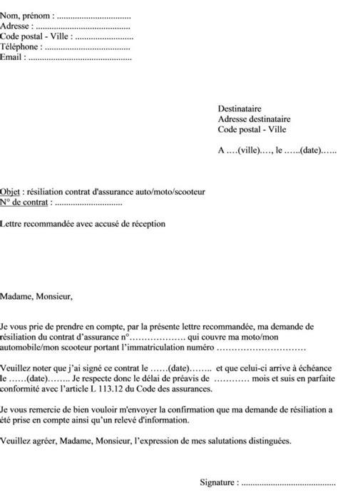 modele de lettre de préavis 1 mois exemple lettre de preavis 1 mois rsa