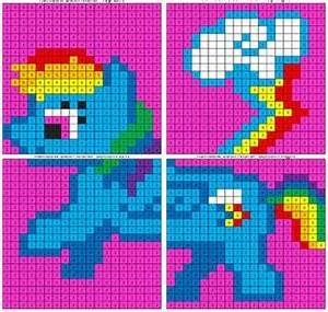 Place Value Chart Printable Pdf Color By Number Murals Graph Paper Art Rainbow Dash