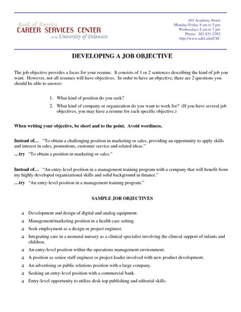 Object In Resume by 5 Sles Of Marketing Resume Objective Statements Resumes Design