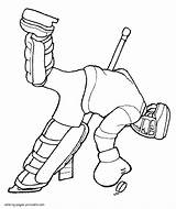 Coloring Pages Winter Printable Sports Hockey Seasons sketch template