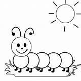 Caterpillar Coloring Sunshine Sunbathing Caterpillars sketch template