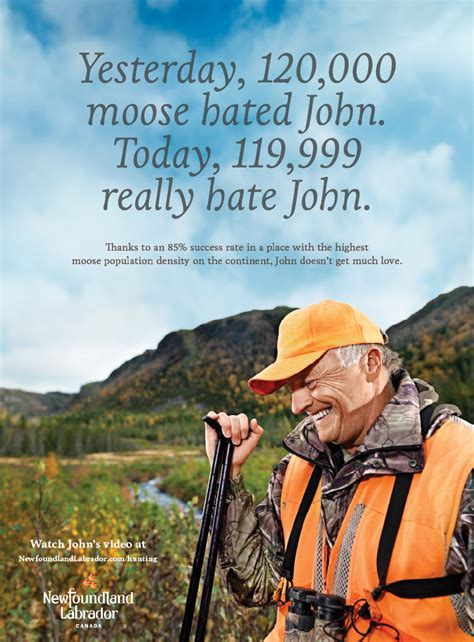 newfoundland  labrador tourism print advert  target
