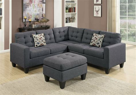 Gray Tufted Loveseat by Corner L Sectional Sofa Loveseat Wedge Tufted