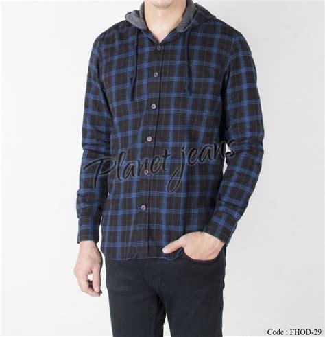 jual kemeja flanel jaket sweater hoodie kupluk cowok lengan panjang dan motif kotak bahan