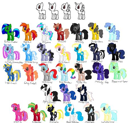Mlp Characters My Little Pony Characters Names Www Imgkid Com The