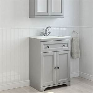 Free standing furniture bathroom cabinets diy at bq for Bathroom caninets