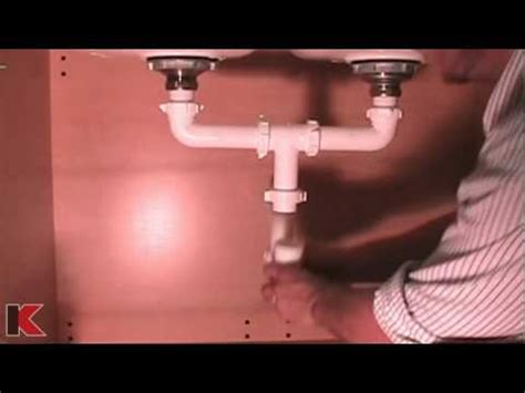 how to plumb kitchen sink drain with disposal bowl sink drainage installation 9814