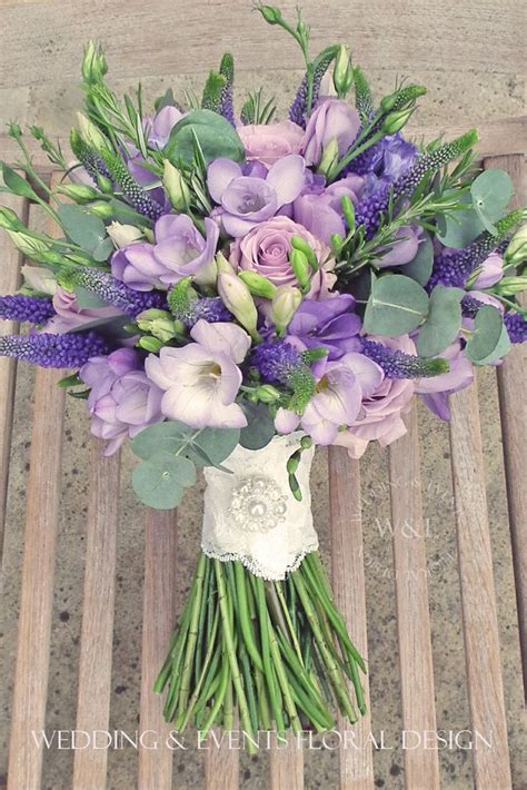 purple lisianthus blue roses purple veronica lavender