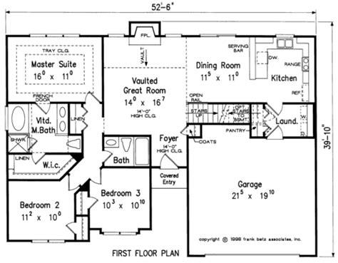 quebec house floor plan frank betz associates