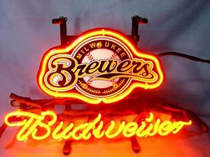 Wiki Neon Sign Blog Budweiser Bud Light MLB MILWAUKEE
