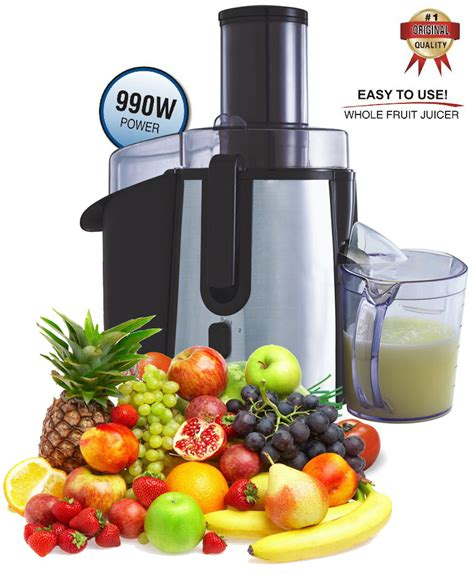 fruit juicer vegetable whole extractor juice powerful fruits juicers 990w vegetables jug professional mega cleaning brush