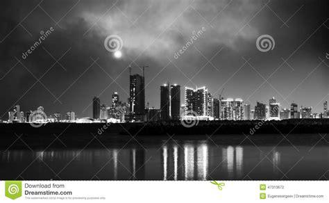 Night Modern City Skyline. Manama, The Capital Of Bahrain ...