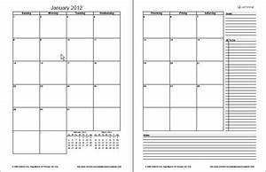 monthly planner template free printable monthly planner With 2 page weekly calendar template
