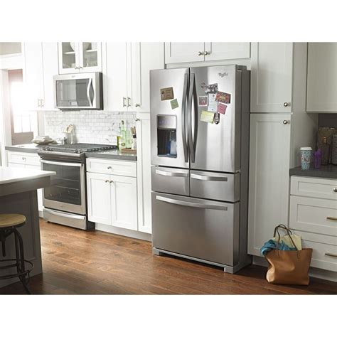 wrvfdem whirlpool  cuft double freezer drawer refrigerator dual icemakers