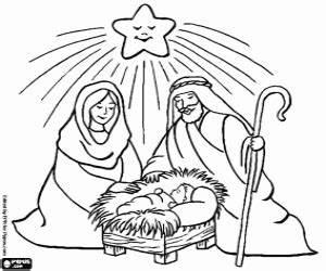 Ausmalbilder Jesus Maria Josef Und Der Stern Zum Ausdrucken