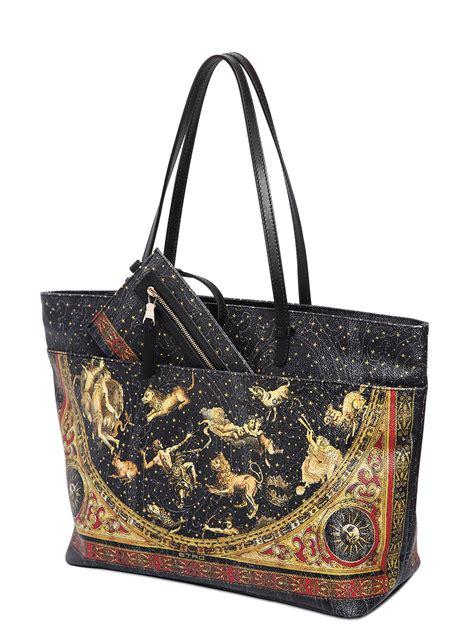 lyst etro printed tote bag  black