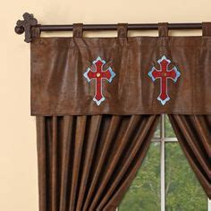 Cowhide Valance by Cowhide Window Valance A Western Rustic Home