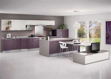 salon canapa noir daco bois cuisine moderne noir et violet