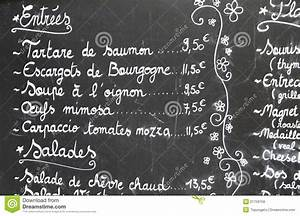 Restaurant, Menu, In, French, Stock, Image, Image, Of, Prices