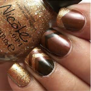 Crispy and fun brown nail designs be modish