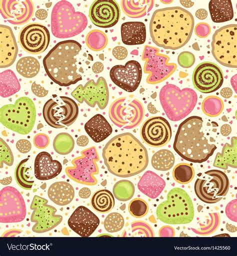Free Cookie Background Images by Colorful Cookies Seamless Pattern Background Vector Image