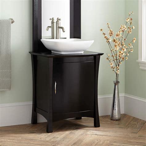 black bathroom vanity with vessel sink signature hardware 24 quot frisco vessel sink vanity with
