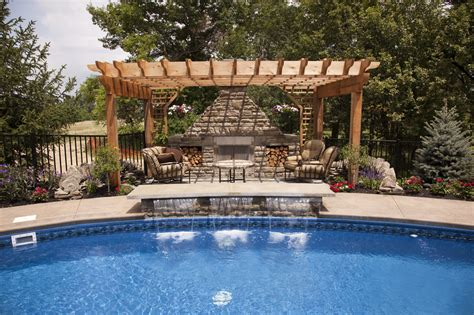 outdoor kitchen designs with pool pagola outdoor kitchen with pool 2358 hostelgarden net 7237