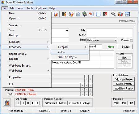 gedcom  excel converter software  windows