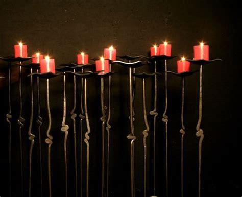 Floor Candleholder Hand forged candleholders by Jeff Fetty