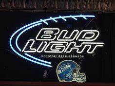 Neon Beer Sign Bud Light Seattle Seahawks Super Bowl